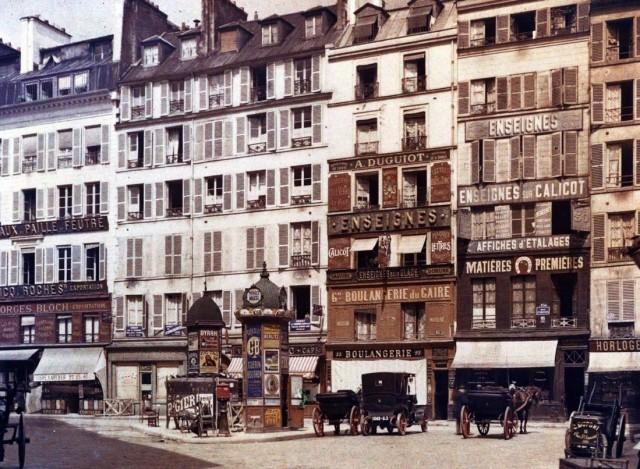 Place du Caire et Rue d'Aboukir en juillet 1914