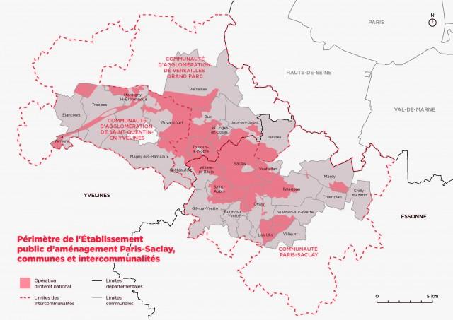 EPA Paris-Saclay -Carte du territoire - février 2016