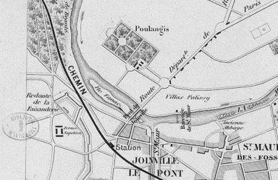 Plan de Joinville-le-pont en 1860