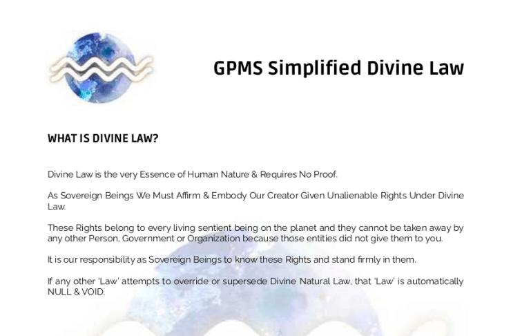 GPMS Simplified Divine Law