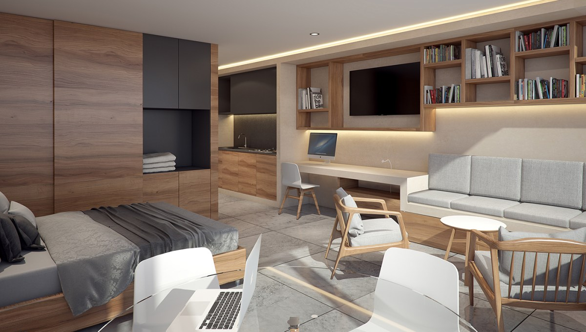 vista departamento 40 m2 - Riva