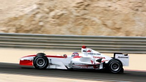Super Aguri's first Grand Prix! This is Sato at Sakhir on his way to finishing last, four laps down on the leaders.
