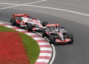 Sato, with dogged determination, hunted down McLaren's Fernando Alonso, passing the Spaniard with three laps to go.