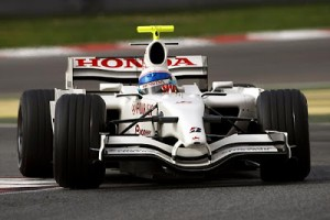 Anthony Davidson in pre-season testing, with the Super Aguri SA08, an updated Honda RA107.