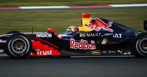 Buemi in action for Arden in the Silverstone round.