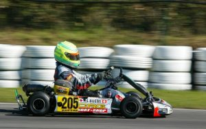 Buemi, very likely on his way to winning another kart race.