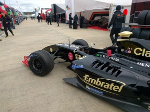 Pietro Fittipaldi's Lotus, which the Brazilian carried to two wins over the Silverstone weekend.
