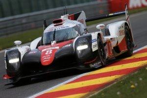 The number 8 Toyota of Sébastien Buemi, Anthony Davidson and Kazuki Nakajima.