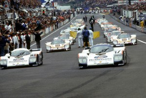 The 1987 Le Mans victory was hotly contested between Porsche and Jaguar.