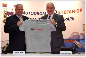 "Stefanovic at the launch of his 2011 entry attempt. Yet to have ""been there and done that"", he still has the t-shirt..."