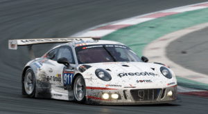 Brendon Hartley's Porsche, 2017 Dubai 24 Hours
