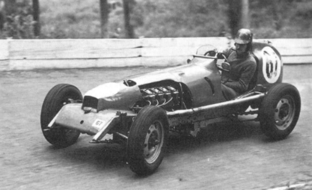 Archie Butterworth and his bizarro, but fast, AJB-Steyr special (Photo: Allard Owners Club)