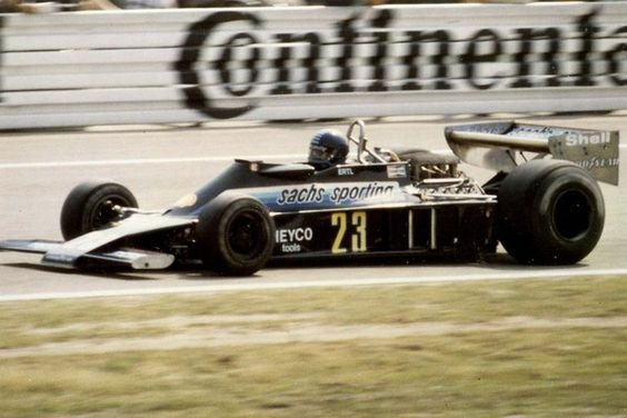 Harald's 1978 outings were sponsored by Sachs springs, whose striking livery adorned the Ensign N177