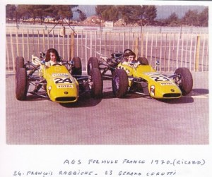 Where it all began: Rabbione and Cerruti in their JH5s in 1970.