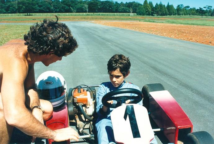 """If you think I'm fast, just wait until you see my nephew"" – Ayrton Senna. Photo: Ayrton Senna Archive"