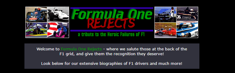 From the ashes of F1Rejects, GPRejects rose.