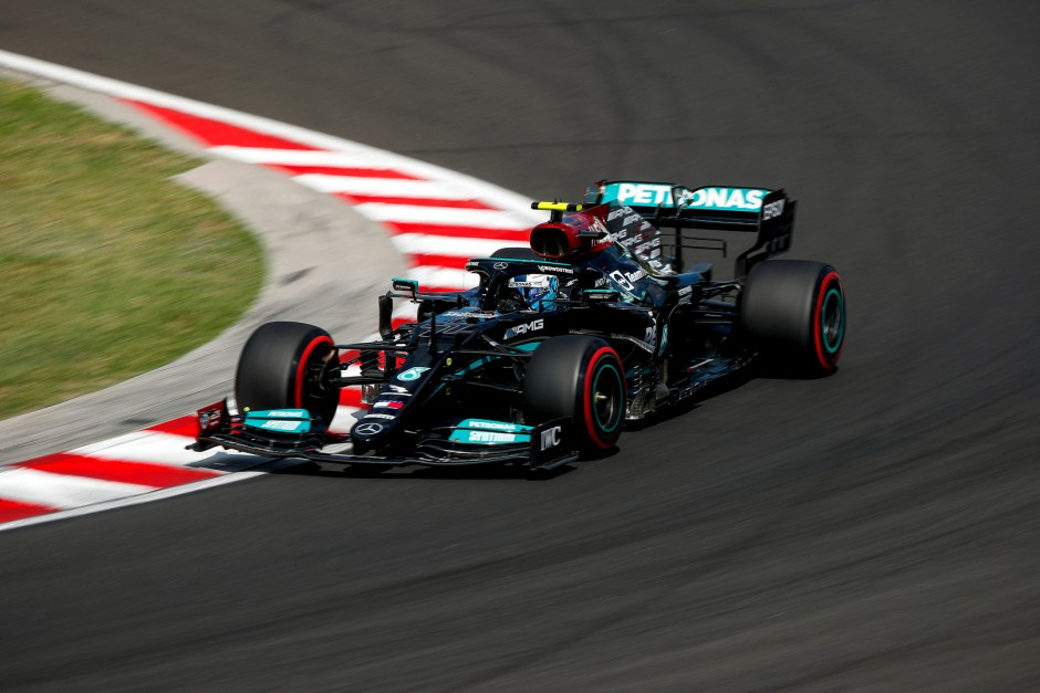 Bottas qualified 2nd but his race was over by turn 1 with the aid of none other than himself. Photo: Mercedes F1/LAT Images