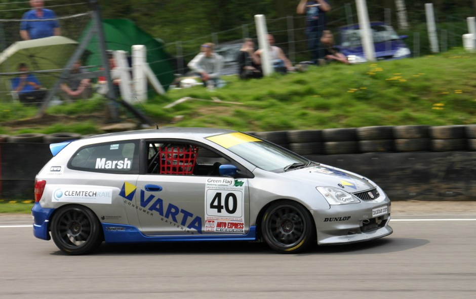John Batchelor had a knack for putting up good sponsor deals for unlikely teams. In 2004, Richard Marsh drove a Honda Civic sponsored by battery company VARTA, a deal reportedly worth a million for the year. Photo: Picasa