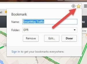 picture showing how to set a bookmark in chrome