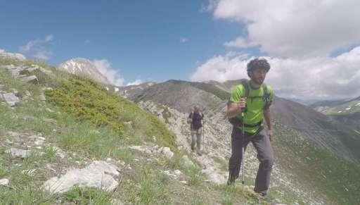Trekking Gran Sasso rilievo GPS