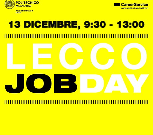 Lecco Job Day 2018 - Manifesto