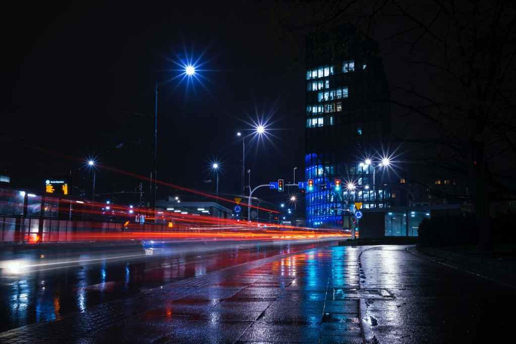 strada illuminata DAIE illuminazione pubblica