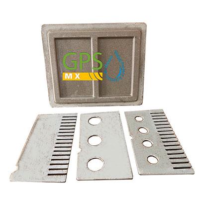 Piezas internas Trampa de grasa de 3 peines fabricada en concreto polimerico y fibra de vidrio