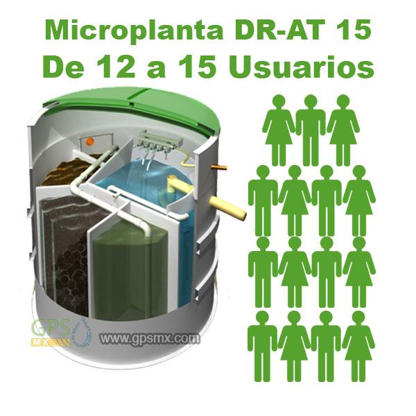 Planta de tratamiento de agua residual DR-AT Modelo 15 para 1.8 M3/día