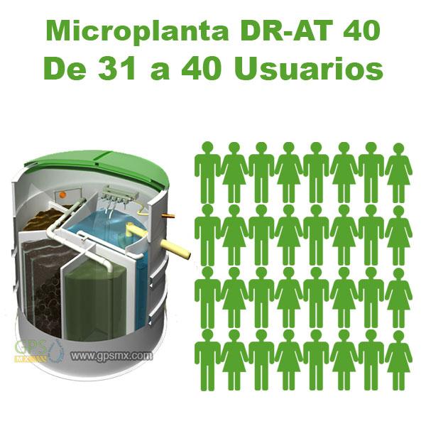 Planta de tratamiento de agua residual DR-AT Modelo 40 para 5.3 M3/día