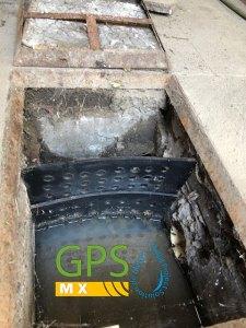 Registro previo a la microplanta Gpsmx para tratamiento de agua residual