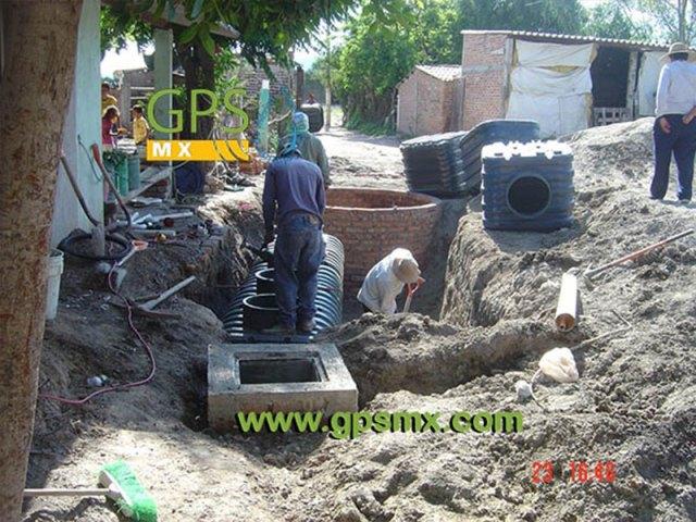 colocación de Microplanta de tratamiento de agua residual Gpsmx Modelo 2500 Reforzada K60 3 módulos