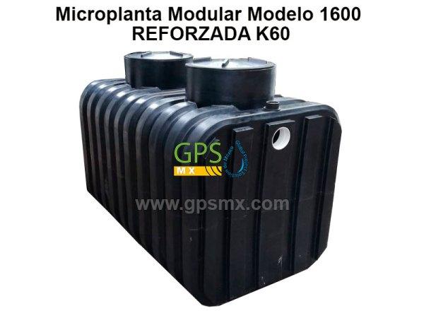 Microplanta de tratamiento de agua residual Gpsmx Modelo 1600 Reforzada K60 2 módulos