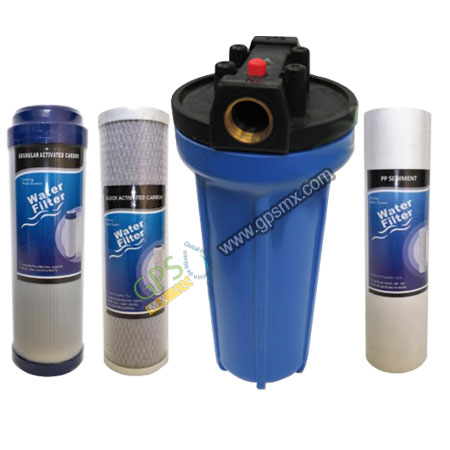 Posta filtro y filtro 10 estándar para agua Gpsmx