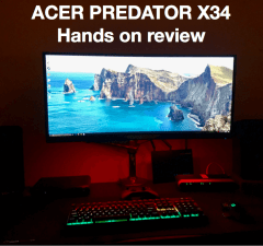 Acer Predator X34 hands on review