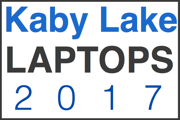kaby lake laptop guide