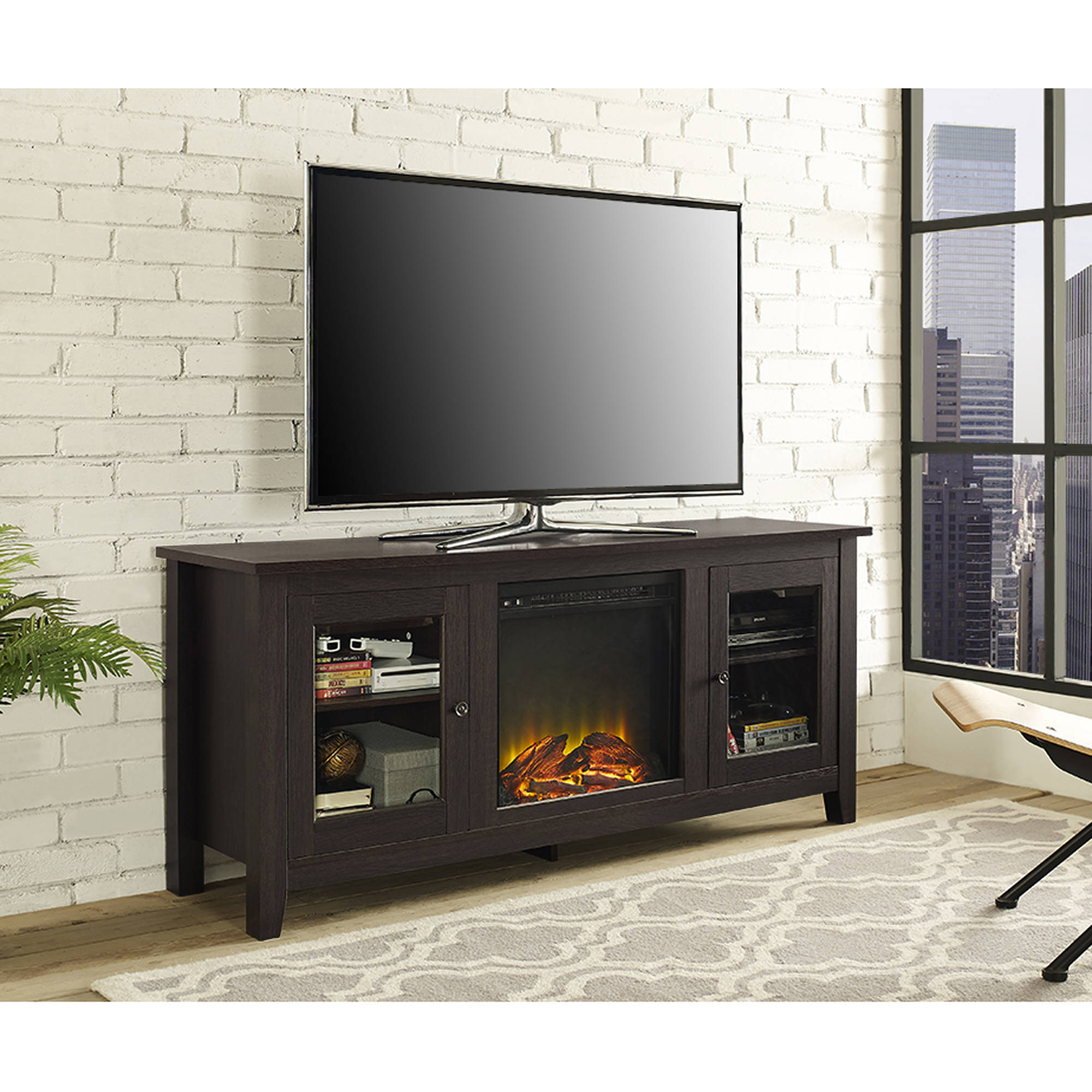 Ideas For Table Under Wall Mounted Tv Novocom Top
