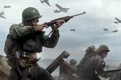 Call Of Duty WW2 beta  War stripped back to basics   British GQ Call Of Duty WW2 strips war back to basics
