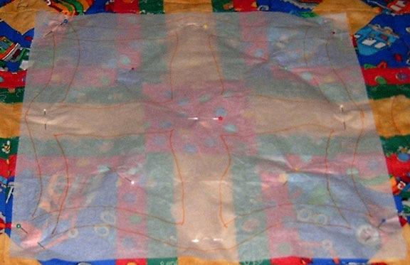 Tissue Paper Quilt Marking (3/6)