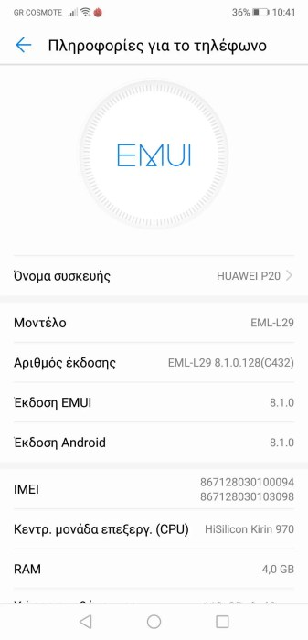 Huawei P20 Info 1