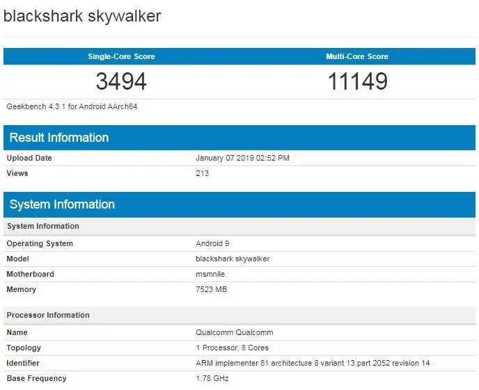 Xiaomi BlackShark Skywalker