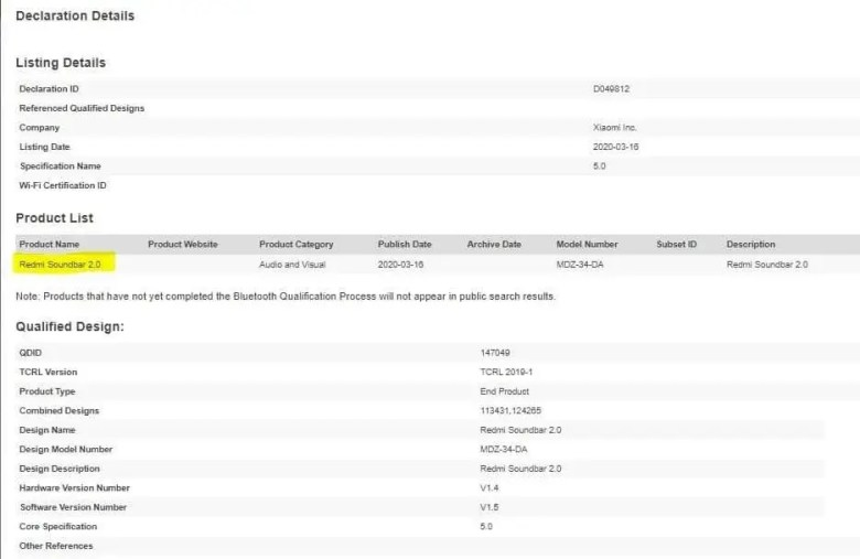 Redmi Soundbar 2.0