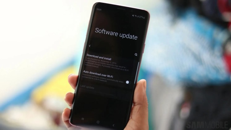 Galaxy S9 update One UI 2.1