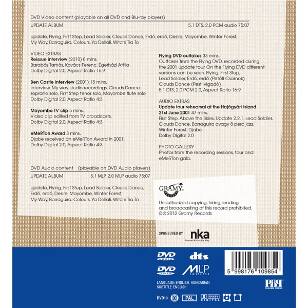 Djabe – Update (DVD-Audio 5.1) back cover