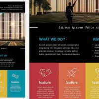 Creative Information Leaflet Photoshop Template A4 Size