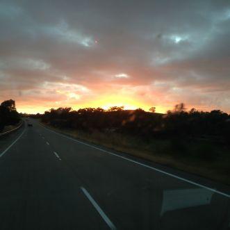 Early morning sunrise near Gundagai