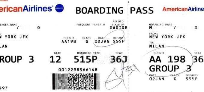 Instagramming Boarding Pass = Bad Idea!