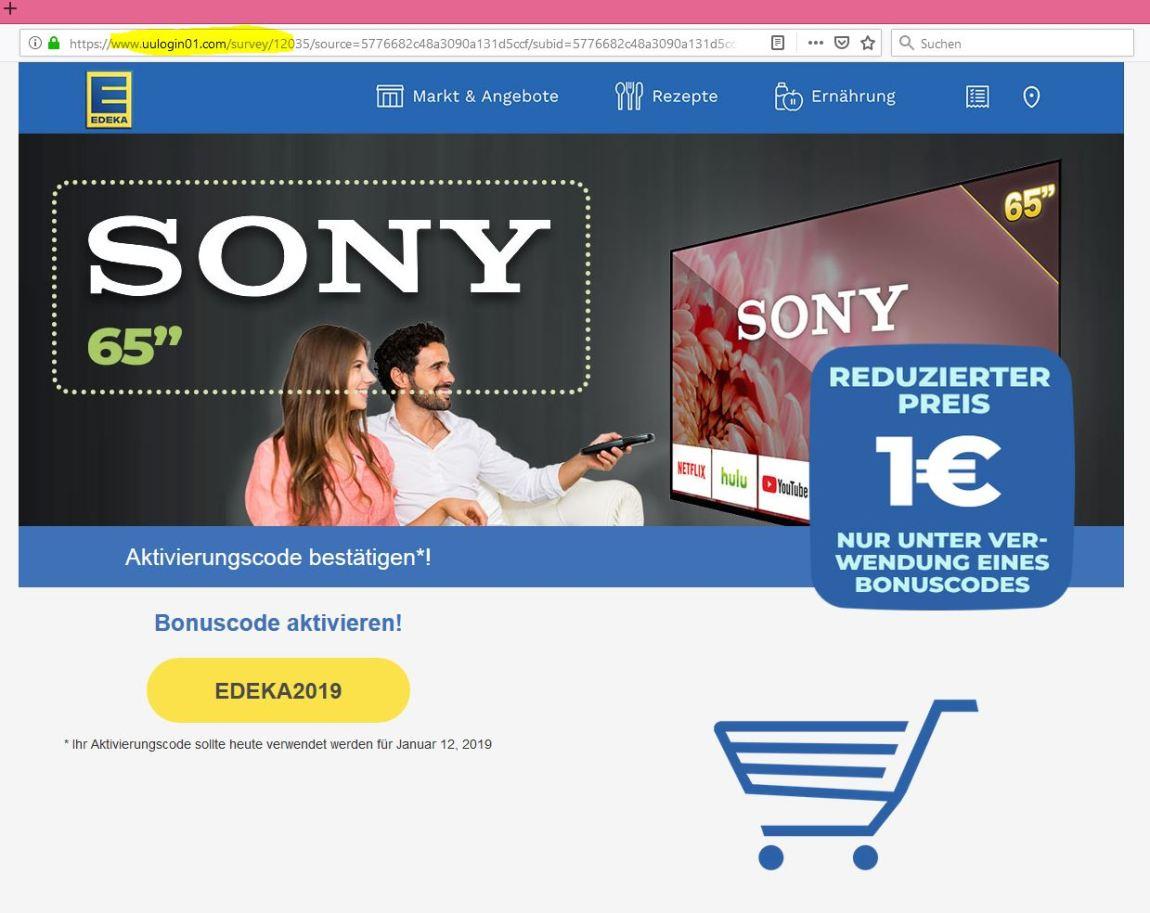 Webseite-Edeka-phishing