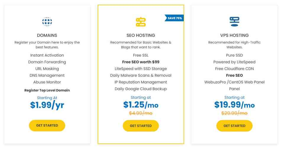 YouStable Hosting Pricing