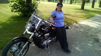 My sweet ma on her own sweet ride today