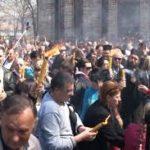 Благодатни огањ у Грачаници на други дан Васкрса